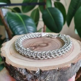 Браслет серебряный цепочка плетение Персидский кольчужный