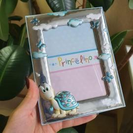 Рамка для фотографии Черепашка голубая для мальчика