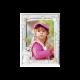 Рамка из серебра для девочки Зайчик розовая MB/124-R