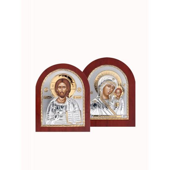 Венчальная пара Спаситель и Богородица 001XAG_004XAG