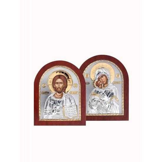 Венчальная пара Спаситель и Богородица 001XAG_007XAG