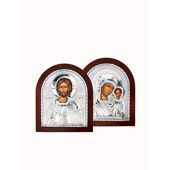 Венчальная пара Спаситель и Богородица 001XA_004XA