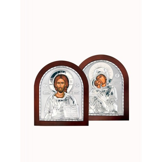 Венчальная пара Спаситель и Богородица 001XA_007XA