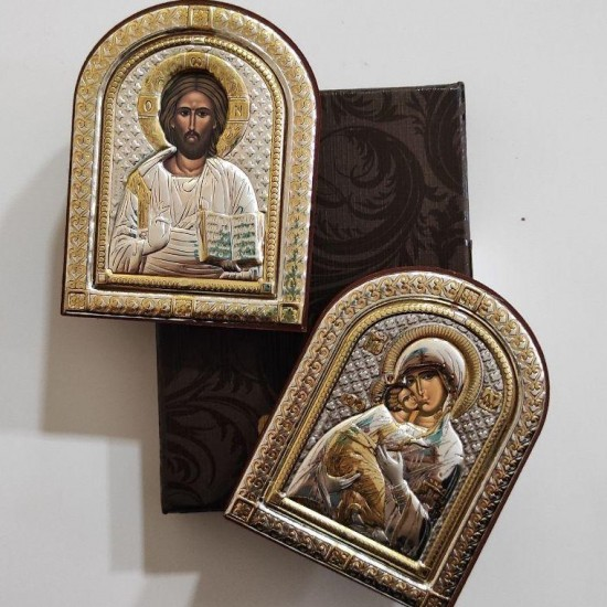 Венчальная пара Спаситель и Богородица 85100_85200