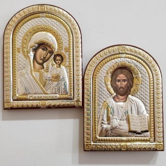 Венчальная пара Спаситель и Богородица 85100_85220