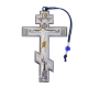 Крест с распятием на шнурке 202PBG/K