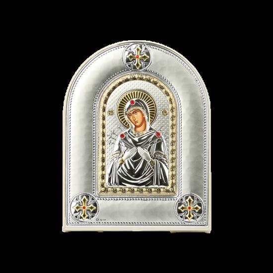 Икона Богородица Семистрельная с камнями MA/E4114