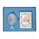 Детский набор Мария с младенцем и рамочкой Черепашка для мальчика MA/S120-C