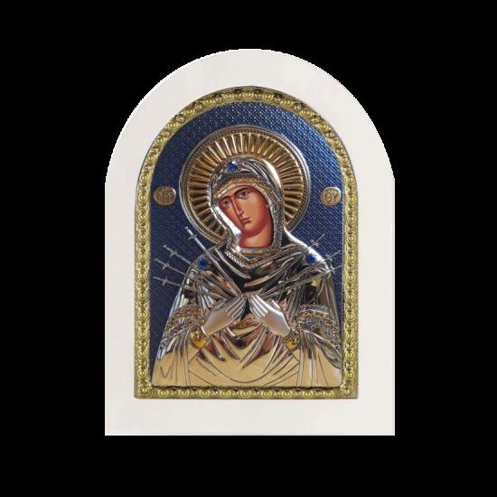 Богородица Семистрельная MA/E1114-WH-C