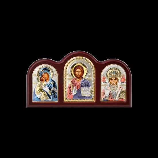 Триптих со Спасителем, Богородицей Владимирской и Святым Николаем MA/E1306X-C