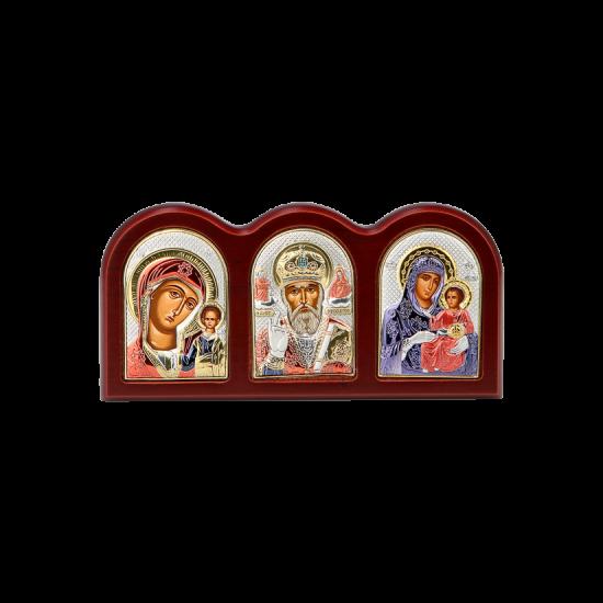 Триптих со Святым Николаем, Богородицей Казанской и Богородицей Иерусалимской MA/E1307X-C