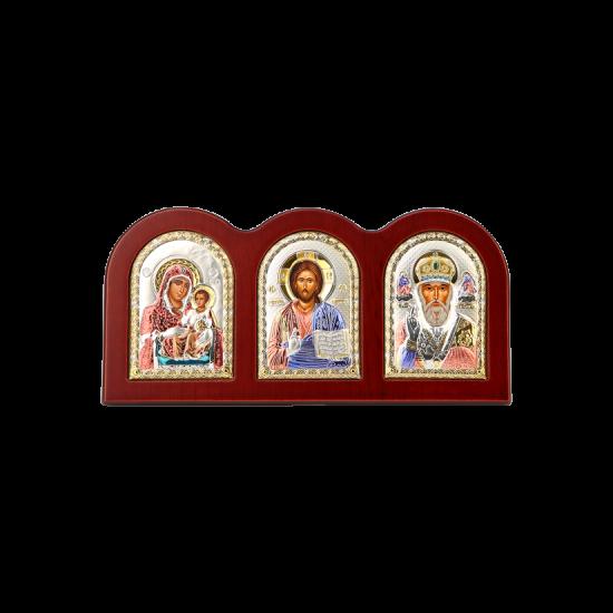 Триптих со Спасителем, Богородицей Иерусалимской и Святым Николаем MA/E1310X-C