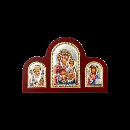 Триптих с Богородицей Иерусалимской, Святым Николаем и Спасителем MA/E1350-15XC