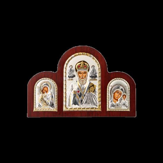 Триптих со Святым Николаем, Богородицей Казанской и Богородицей Владимирской MA/E1350-16X