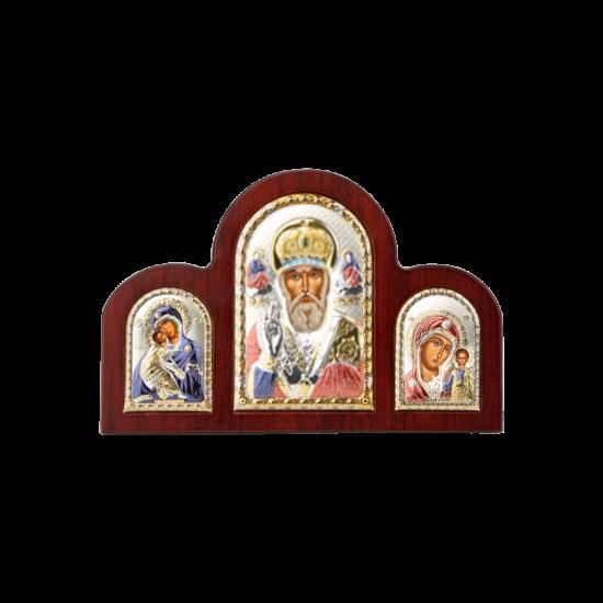 Триптих со Святым Николаем, Богородицей Казанской и Богородицей Владимирской в цвете MA/E1350-16XC