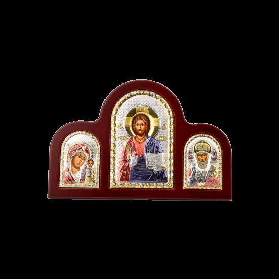 Триптих со Спасителем, Богородицей Казанской и Святым Николаем MA/E1350-17XC