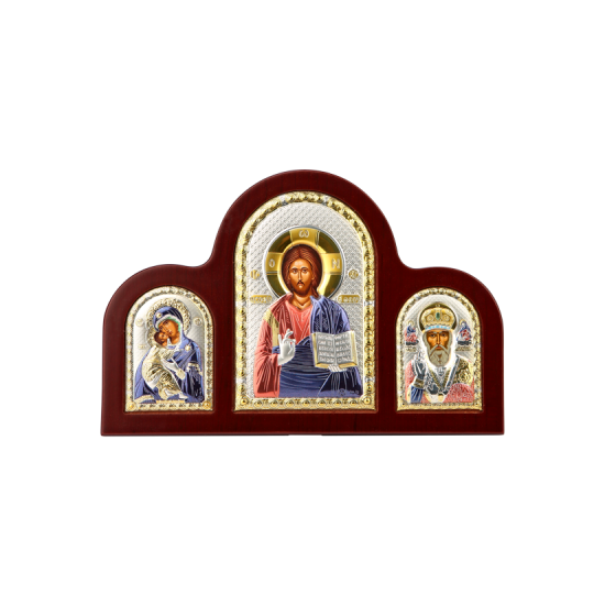 Триптих со Спасителем, Богородицей Владимирской и Святым Николаем MA/E1350-21XC