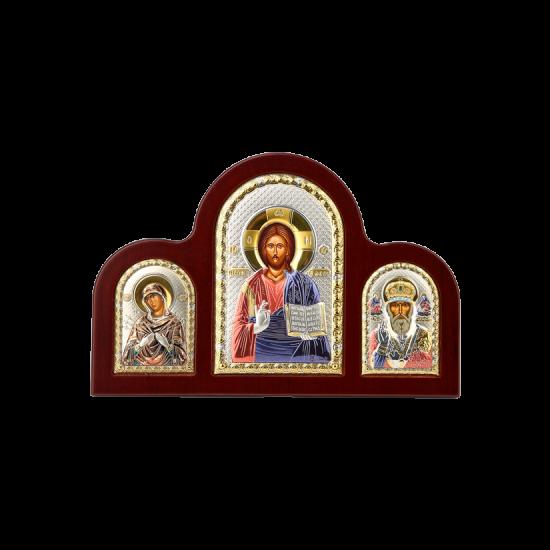 Триптих со Спасителем, Богородицей Семистрельной и Святым Николаем MA/E1350-22XC