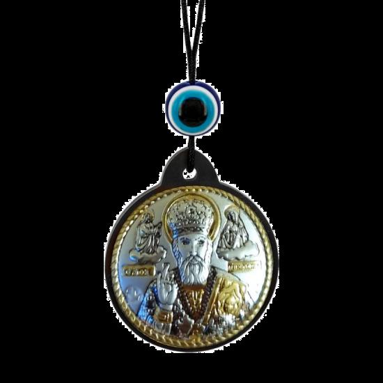 Икона Святой Николай брелок на шнурке MB/E1320-7X