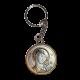 Икона двойная Богородица Казанская и Спаситель на металлическом брелке MB/E1321-11X