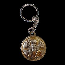 Икона двойная Богородица Казанская и Святой Николай на металлическом брелке