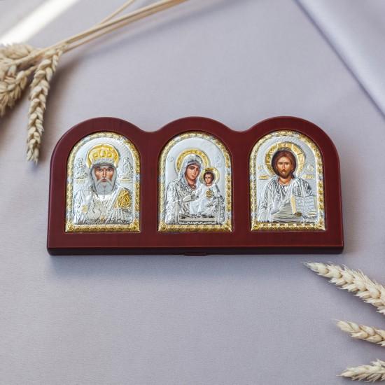 Триптих со Спасителем, Богородицей Иерусалимской и Святым Николаем MA/E1310X