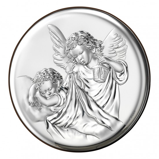 Икона детская Ангелы круглая 18023