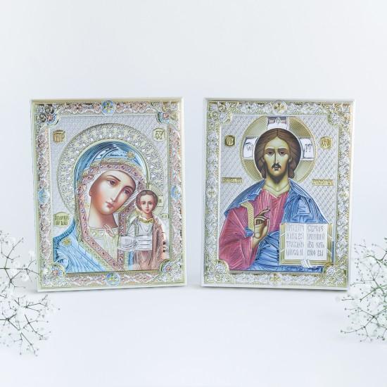Венчальная пара Спаситель и Богородица 85300/COL_85302/COL