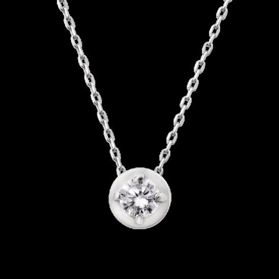 Колье серебряное Камешек с цепочкой ВС-074