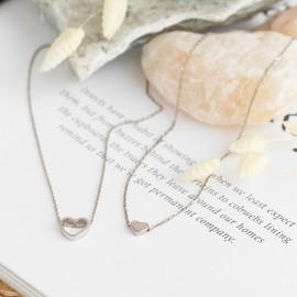 Колье серебряное маленькое Сердечко без камней
