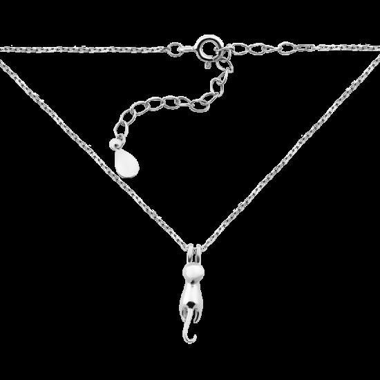 Колье серебряное Кошка на цепочке ВС-143р