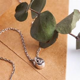 Колье серебряное Капелька с цепочкой