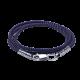 Шнурок синтетический с серебряной застежкой голубой КС-0320