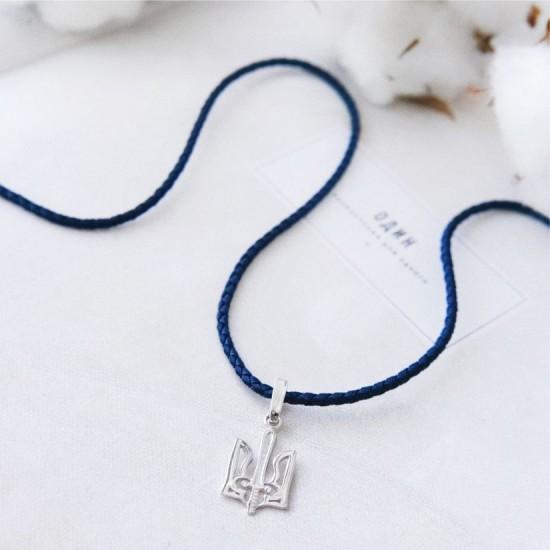 Шнурок синтетический с серебряной застежкой КС-0425р