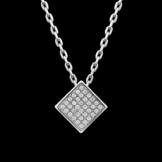 Колье серебряное ромб ЛК-0086