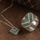 Колье серебряное ромб ЛК-0086н
