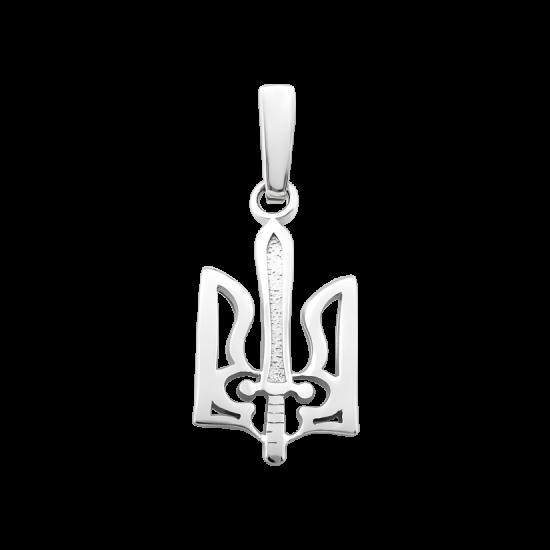 Серебряный кулон Герб Украины ВС-038р