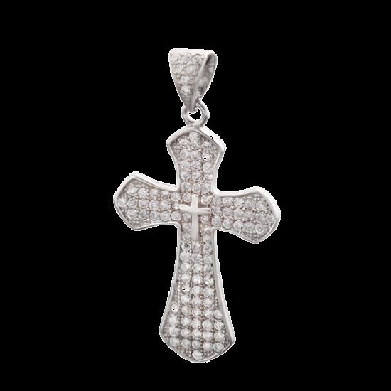Крестик серебреный ЛК-0002р