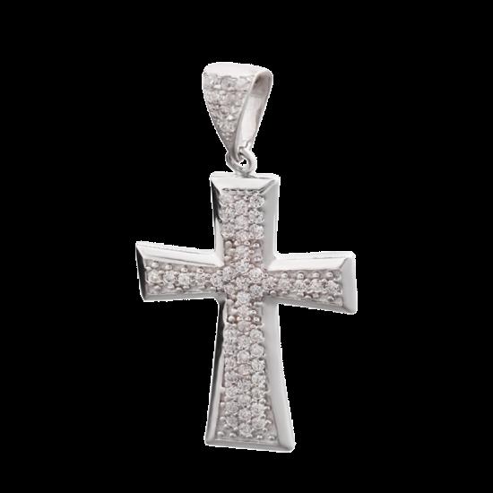 Крестик серебряный ЛК-0033р