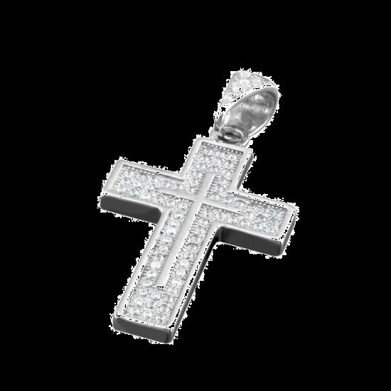 Крестик серебряный ЛК-0055р