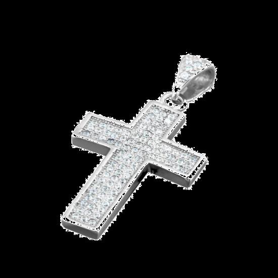 Крестик серебряный ЛК-0056р