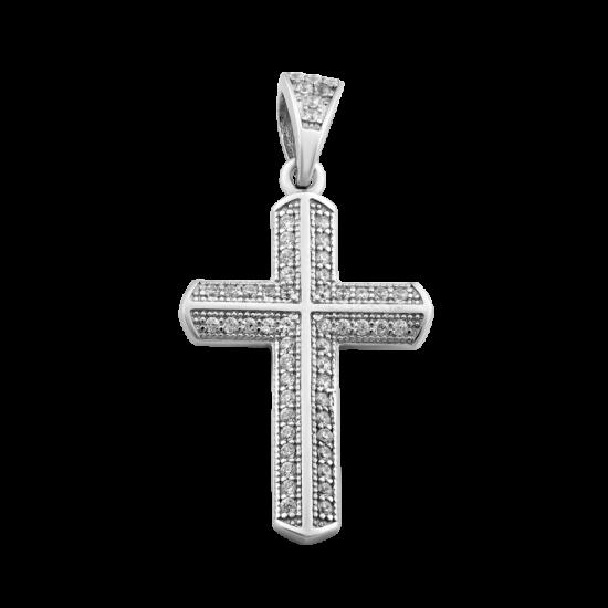 Крестик серебряный ЛК-0057р