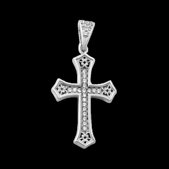 Крестик серебреный ЛК-0114р