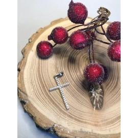 Крестик серебреный
