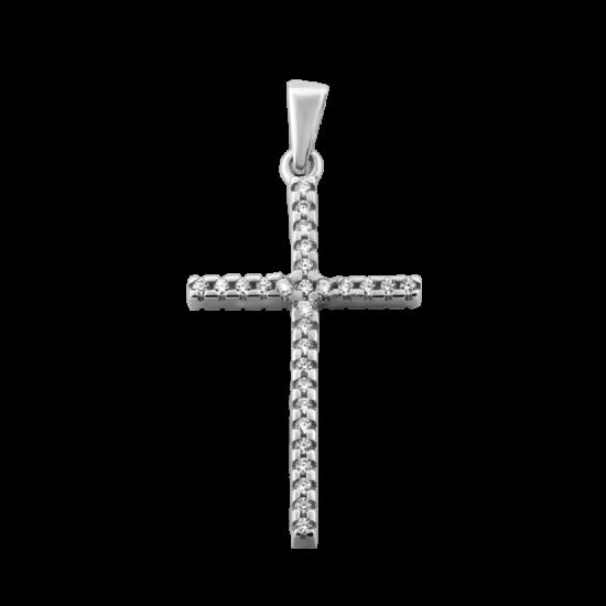 Крестик серебреный ЛК-0190