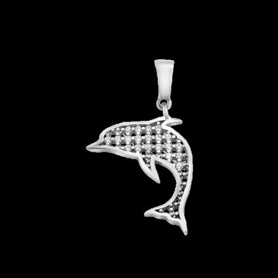 Серебряный кулон Дельфин ЛК-0270р