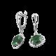 Серебряные серьги  ВС-019