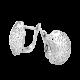 Серебряные сережки кружево  ВС-042р