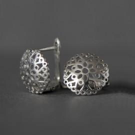 Сережки срібні мереживо з квіточками