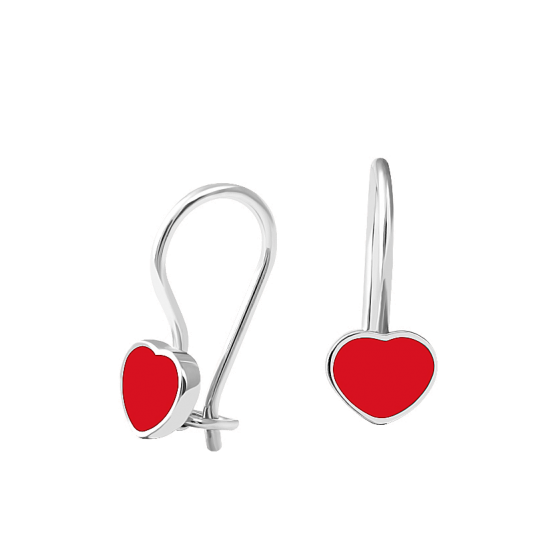 Серебряные серьги Сердечки ВС-060ер